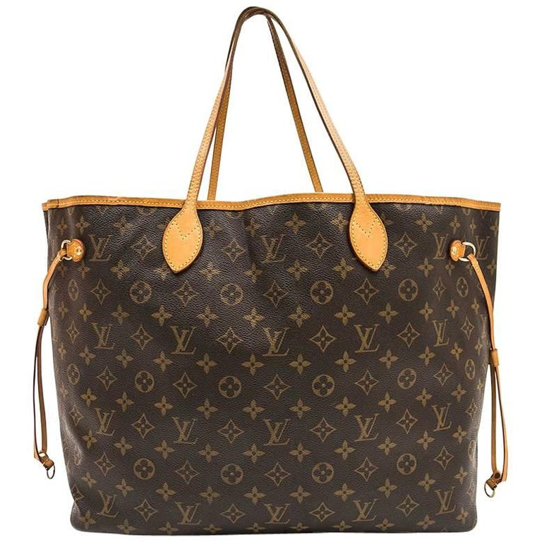 Louis Vuitton Neverfull Bag In Brown Monogram Canvas
