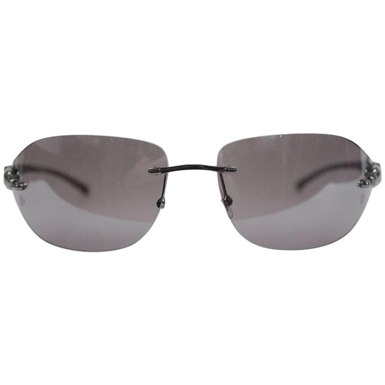 9cba6053efd Cartier Paris Panthere Rimless Sunglasses T8200882 110mm For Sale at 1stdibs