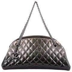 Chanel Just Mademoiselle Degrade Handbag Quilted Patent Medium