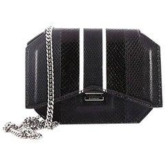 Givenchy Bow Cut Chain Crossbody Bag Python Mini