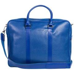 Longchamp Men's Solid Blue Le Foulonne Document Holder