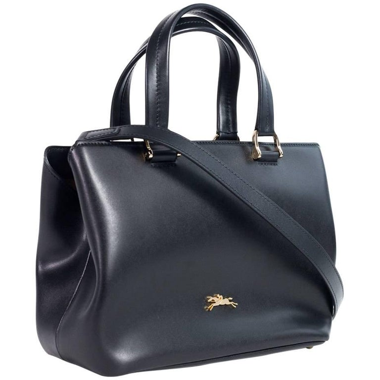 Longchamp Women s Black Leather Honore 404 Small Tote Bag For Sale at  1stdibs bea6c6a86bd28