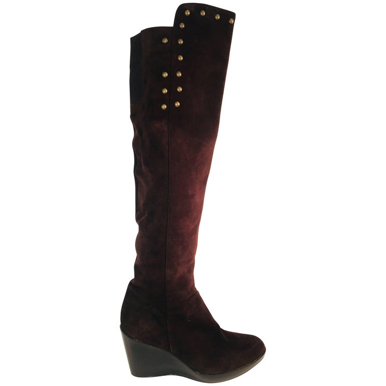 Stuart Weitzman Studded Over the Knee Boot