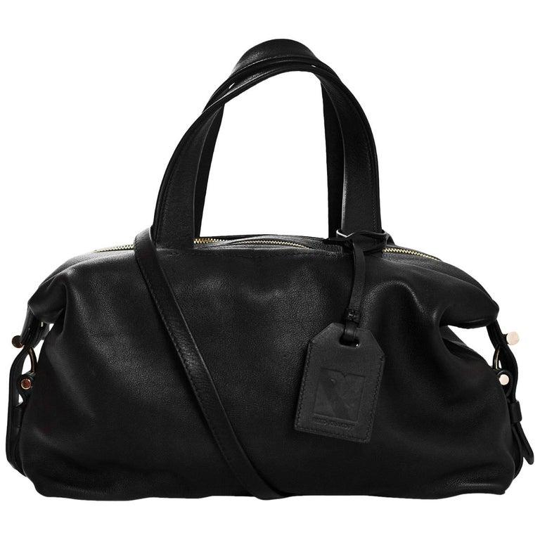Reed Krakoff Black Leather Mini Atlas Satchel Bag