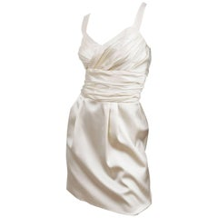 Dolce & Gabbana Silk Cocktail Dress in Ivory, size 40