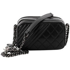 Chanel Coco Boy Camera Bag Quilted Leather Mini