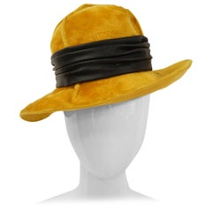 Christian Dior Amber Chapeau with Leather Ribbon, 1970s