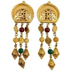 Ben Amun 1980s Dangle Earrings with