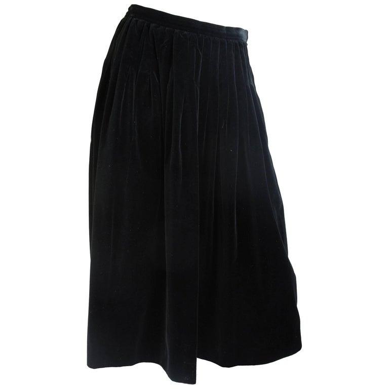 Yves Saint Laurent Rive Gauche Velvet Skirt, 1980s