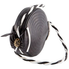 1980s Black Leather Bag
