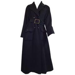 Chanel Cashmere Coat Chain Around Belt