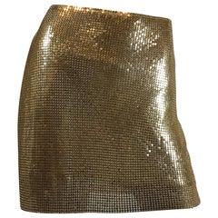 Paco Rabanne Metal Mesh Skirt