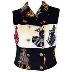 Gianni Versace Vest Medusa Buttons
