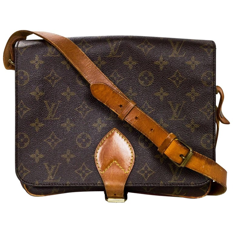 Louis Vuitton Monogram Canvas Cartouchiere MM Messenger Bag