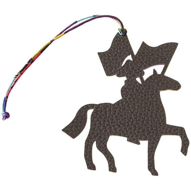 Hermes Bag Charm Soldier Cavalier Artificier Silk Cord