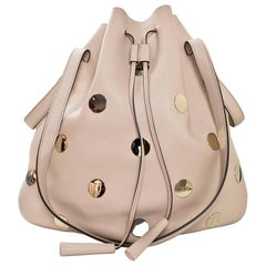 Tod's Blush Leather Medium Secchiello Bucket Bag with Dust Bag