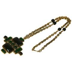 Yves Saint Laurent Haute Couture Byzantine Cross Necklace