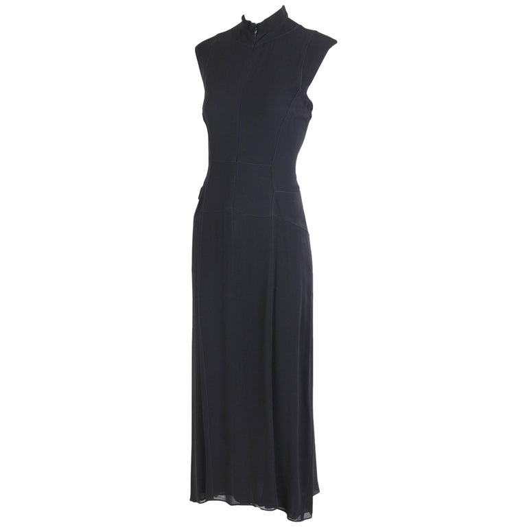 "Calvin Klein ""Collection"" for Bergdorf Goodman Black Sleeveless Evening Dress"