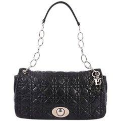 Christian Dior Rendez Vous Flap Bag Cannage Quilt Lambskin Medium