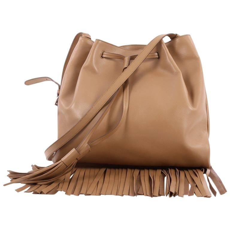 d60d126bcc59 Prada Drawstring Fringe Tote Bag Soft Calfskin Medium at 1stdibs