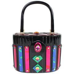 1980's Playful Resin & Acrylic Handbag