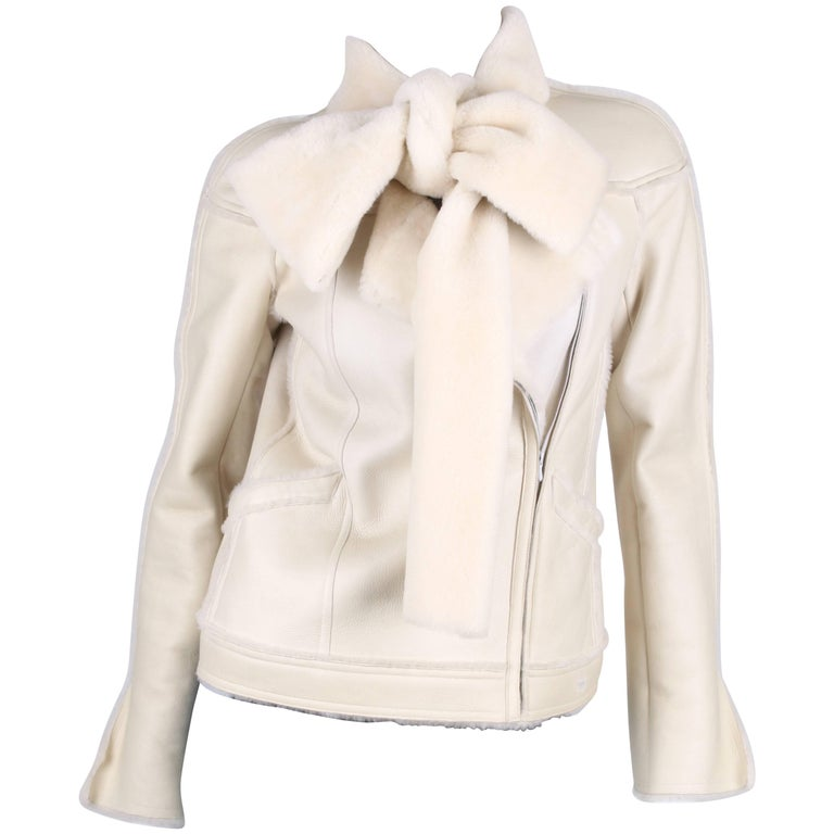 Chanel Lammy Coat - off-white