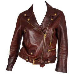 Acne Studios Leather Jacket Mock Vintage SS14- brown