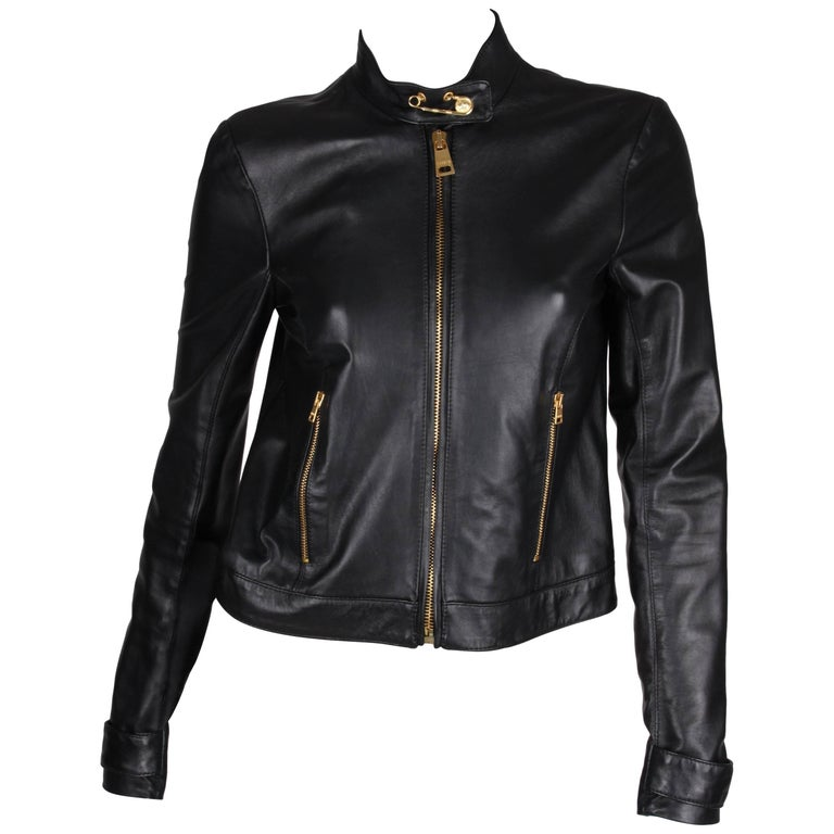 Versus Versace Leather Jacket - black