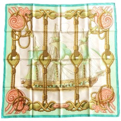 "Hermes Paris Silk scarf ""Tribord"", 1960s"