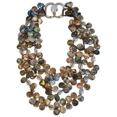 Patricia von Musulin Abalone, Lucite, and Sterling Silver Necklace