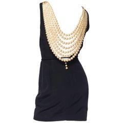 Breakfast at Tiffany's style Pearl Necklace Dress by Lolita Lempicka