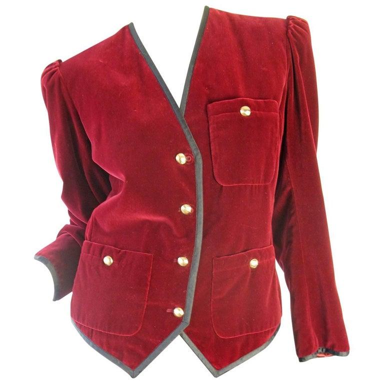 Yves Saint Laurent Rive Gauche Velvet Suit, 1980s