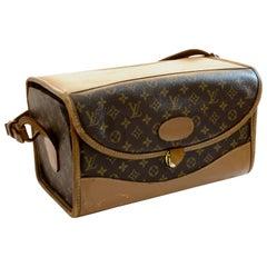 Vintage Louis Vuitton Train Case Monogram Canvas Travel Vanity Bag Beauty Case