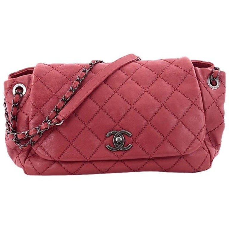 0ae1d6b67895 Chanel Stitch It Accordion Flap Bag Quilted Leather Medium at 1stdibs