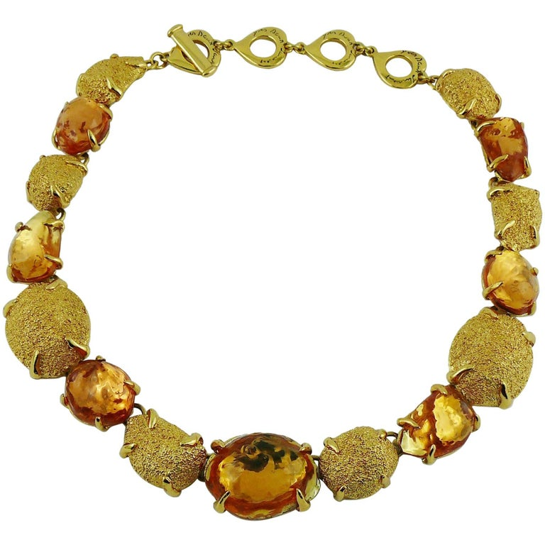 d0b36260aa0 Yves Saint Laurent YSL Robert Goossens Nugget Necklace For Sale at ...