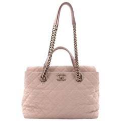 Chanel Chic Quilt Tote Quilted Caviar Medium
