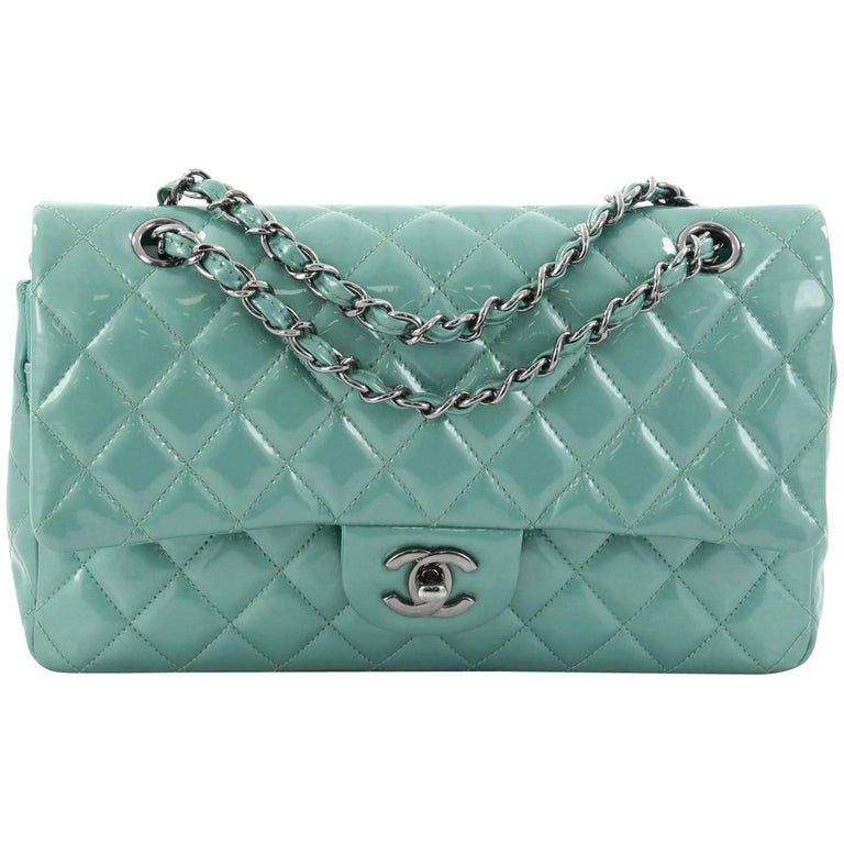 062c61e93197 Chanel Classic Double Flap Bag Quilted Patent Medium at 1stdibs