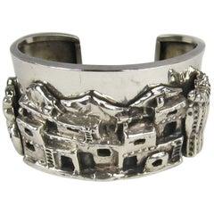 1989 Vintage Carol Felley Story Teller Sterling Silver Cuff Bracelet New
