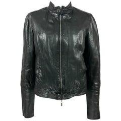 Jean Paul Gaultier Black Leather Biker Jacket