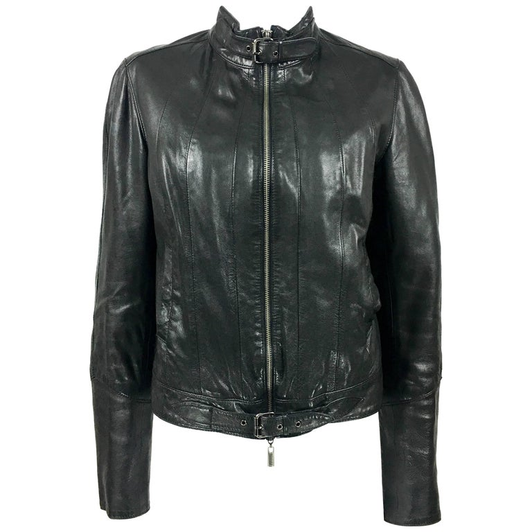 Jean Paul Gaultier Black Leather Biker Jacket