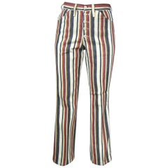 1960s Wrangler Vintage New Hippie Striped button front Jeans