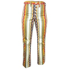 Wrangler Funky Hippie Striped Pants 1960s, New Never Worn