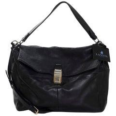 Lanvin Black Leather For Me Satchel Bag rt. $2,200