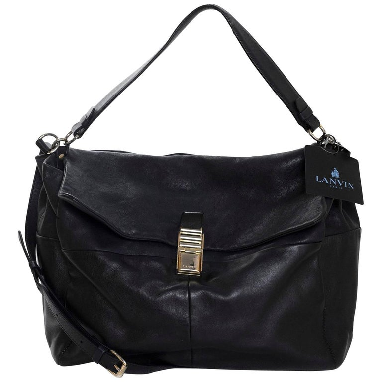 Lanvin Black Leather For Me Satchel Bag rt. $2,200