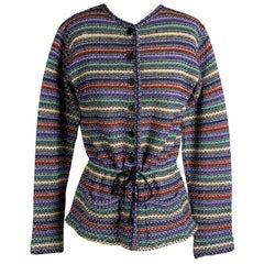 Missoni Striped Sweater with Cinch Tie, circa 1970s