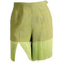 Pucci Lime Green Fringe Shorts circa 1960s/1970s