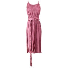 Mary McFadden Dress with Rope Belt, circa 1970s
