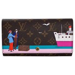 Louis Vuitton 2016 Illustre Transatlantic Christmas Monogram Sarah Wallet