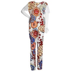 Louis Vuitton Floral Print T-Shirt and Pants set
