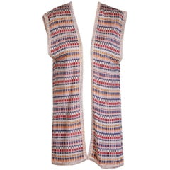 Missoni Vest with Geometric Stripes and Blocks Pattern, circa 1970s